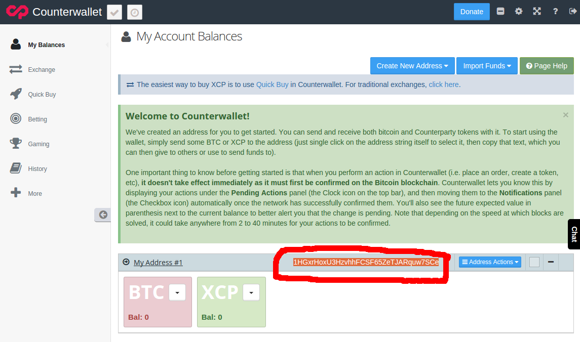 counterwallet address